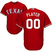 Majestic Men's Full Roster Cool Base Replica Texas Rangers Alternate Red Jersey