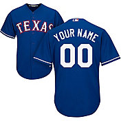 Majestic Men's Custom Cool Base Replica Texas Rangers Alternate Royal Jersey