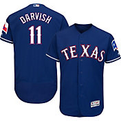 Majestic Men's Authentic Texas Rangers Yu Darvish #11 Alternate Royal Flex Base On-Field Jersey