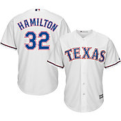 Majestic Men's Replica Texas Rangers Josh Hamilton #32 Cool Base Home White Jersey