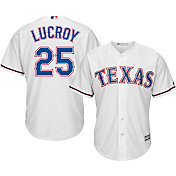 Majestic Men's Replica Texas Rangers Jonathon Lucroy #25 Cool Base Home White Jersey