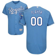 Majestic Men's Full Roster Authentic Kansas City Royals Flex Base Alternate Light Blue On-Field Jersey