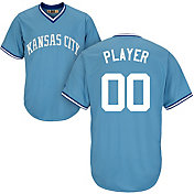 Majestic Men's Full Roster Cool Base Cooperstown Replica Kansas City Royals Light Blue Jersey