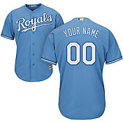 Majestic Men's Custom Cool Base Replica Kansas City Royals Alternate Light Blue Jersey