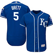 Majestic Men's Authentic Kansas City Royals George Brett #5 Alternate Royal Flex Base On-Field Jersey