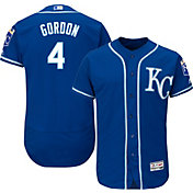 Majestic Men's Authentic Kansas City Royals Alex Gordon #4 Alternate Royal Flex Base On-Field Jersey