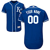 Majestic Men's Custom Authentic Kansas City Royals Flex Base Alternate Royal On-Field Jersey