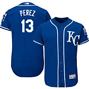 Majestic Men's Authentic Kansas City Royals Salvador Perez #13 Alternate Royal Flex Base On-Field Jersey