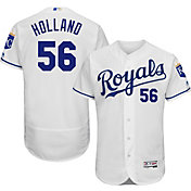 Majestic Men's Authentic Kansas City Royals Greg Holland #56 Home White Flex Base On-Field Jersey