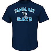 Majestic Men's Tampa Bay Rays Heart & Soul Navy T-Shirt