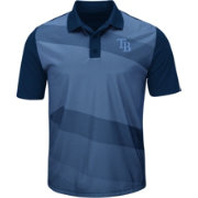 Majestic Men's Tampa Bay Rays Cool Base Light Blue/Navy Late Night Prize Polo