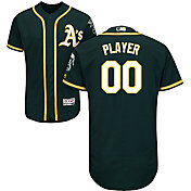Majestic Men's Full Roster Authentic Oakland Athletics Flex Base Alternate Green On-Field Jersey