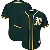 Majestic Men's Replica Oakland Athletics Cool Base Alternate Green Jersey