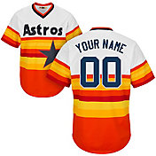 Majestic Men's Custom Cool Base Cooperstown Replica Houston Astros 1986 Rainbow Jersey