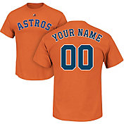 Majestic Men's Custom Houston Astros Orange T-Shirt