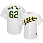 Majestic Men's Replica Oakland Athletics Sean Doolittle #62 Cool Base Home White Jersey