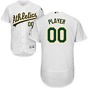 Majestic Men's Full Roster Authentic Oakland Athletics Flex Base Home White On-Field Jersey