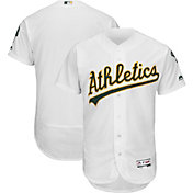 Majestic Men's Authentic Oakland Athletics Home White Flex Base On-Field Jersey