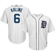 Majestic Men's Replica Detroit Tigers Al Kaline #6 Cool Base Home White Jersey