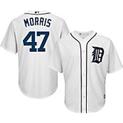 Majestic Men's Replica Detroit Tigers Jack Morris #47 Cool Base Home White Jersey