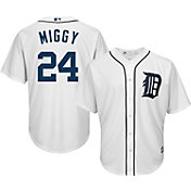 "Majestic Men's Replica Detroit Tigers ""Miggy"" #24 Cool Base Home White Jersey"