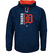 Majestic Men's Detroit Tigers Therma Base On-Field Navy Authentic Collection Pullover Hoodie