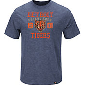 Majestic Men's Detroit Tigers Cooperstown Navy T-Shirt