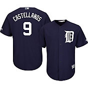 Majestic Men's Replica Detroit Tigers Nick Castellanos #9 Cool Base Alternate Navy Jersey