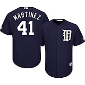 Majestic Men's Replica Detroit Tigers Victor Martinez #41 Cool Base Alternate Navy Jersey