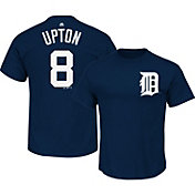Majestic Men's Detroit Tigers Justin Upton #8 Navy T-Shirt
