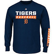 Majestic Men's Detroit Tigers Proven Pastime Navy Long Sleeve Shirt