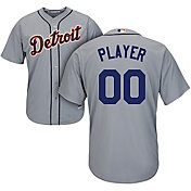 Majestic Men's Full Roster Cool Base Replica Detroit Tigers Road Grey Jersey