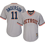Majestic Men's Replica Detroit Tigers Sparky Anderson Cool Base Grey Cooperstown Jersey
