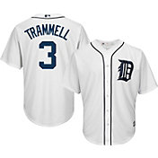 Majestic Men's Replica Detroit Tigers Alan Trammell #3 Cool Base Home White Jersey
