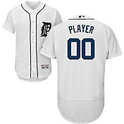 Majestic Men's Full Roster Authentic Detroit Tigers Flex Base Home White On-Field Jersey