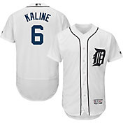 Majestic Men's Authentic Detroit Tigers Al Kaline #6 Home White Flex Base On-Field Jersey