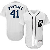 Majestic Men's Authentic Detroit Tigers Victor Martinez #41 Home White Flex Base On-Field Jersey