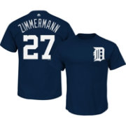Majestic Men's Detroit Tigers Jordan Zimmermann #27 Navy T-Shirt