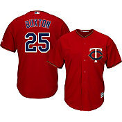 Majestic Men's Replica Minnesota Twins Byron Buxton #25 Cool Base Alternate Red Jersey