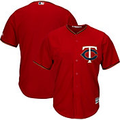 Majestic Men's Replica Minnesota Twins Cool Base Alternate Red Jersey