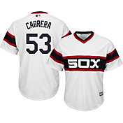 Majestic Men's Replica Chicago White Sox Melky Cabrera #53 Cool Base 1983 Alternate White Jersey