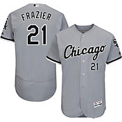 Majestic Men's Authentic Chicago White Sox Todd Frazier #21 Road Grey Flex Base On-Field Jersey