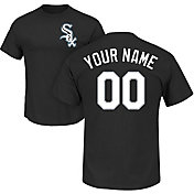 Majestic Men's Custom Chicago White Sox Black T-Shirt