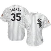 Majestic Men's Replica Chicago White Sox Frank Thomas #35 Cool Base Home White Jersey w/ HOF Patch