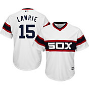 Majestic Men's Replica Chicago White Sox Brett Lawrie #15 Cool Base 1983 Alternate White  Jersey