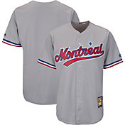 Majestic Men's Replica Montreal Expos Cool Base Grey Cooperstown Jersey