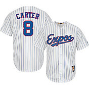 Majestic Men's Replica Montreal Expos Gary Carter Cool Base White Cooperstown Jersey