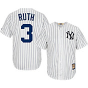 Majestic Men's Replica New York Yankees Babe Ruth Cool Base White Cooperstown Jersey