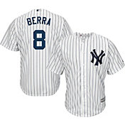 Majestic Men's Replica New York Yankees Yogi Berra #8 Cool Base Home White Jersey
