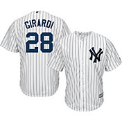 Majestic Men's Replica New York Yankees Joe Girardi #28 Cool Base Home White Jersey